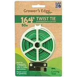 Grower's Edge Twist Tie Dispenser with Cutter, 164-Feet