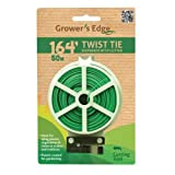 Grower's Edge Green Twist Tie Dispenser w/ Cutter - 164 ft...