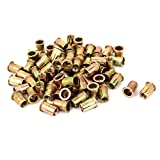 uxcell M10x20mm Open End Flat Head Knurled Body Blind Rivet Nut 100pcs