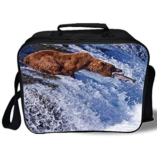 Insulated Lunch Bag,Nature,Grizzly Bear at Katmai National for sale  Delivered anywhere in USA