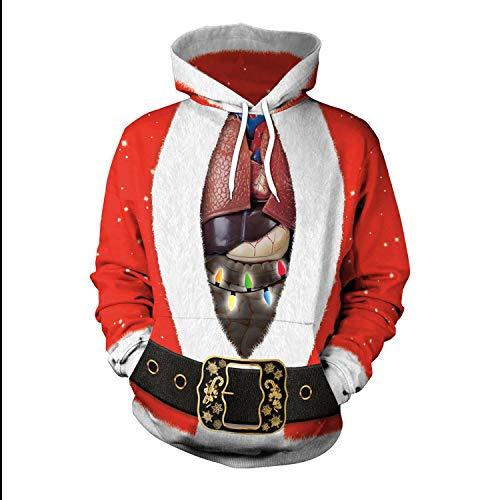 3d Uomo Inverno Da Colorful Pullover Cappuccio Natale Xl Regalo Stampato  hop Babbo size Con Punk Cartoon Rongjuyi Hip Donna ... 68ef7ad1f63
