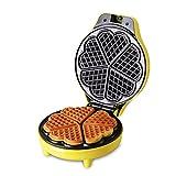 yellow waffle maker - ANHPI 640W Electric Waffle Maker Makes 5 Heart Shaped Waffles Home Non-stick Coated Plates Waffle Making Machine (yellow),Yellow