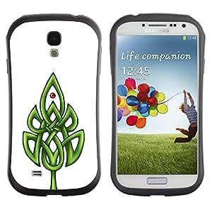 LASTONE PHONE CASE / Suave Silicona Caso Carcasa de Caucho Funda para Samsung Galaxy S4 I9500 / Celtic Pattern White Minimalist Clean
