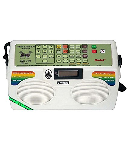 NEW ELECTRONIC ~TABLA RADEL TAALMALA DIGI-108 WITH MANJIRA~3 YEAR WARRANTY SALE