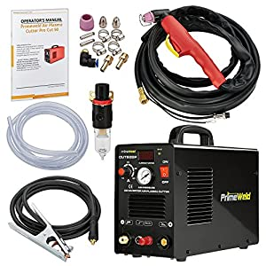 "PRIMEWELD 50A CUT50DP NonTouch Pilot Arc Air Inverter Plasma Cutter Dual Voltage 110/220VAC 1/2"" Clean Cut … by Primeweld"