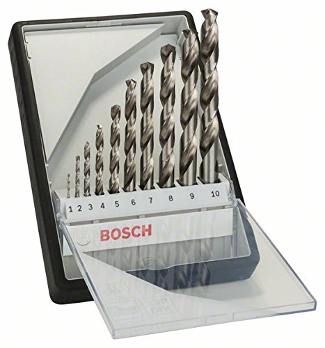 "Bosch 2607010535 Metal Drill Bit-Set""Robust Line"" Hss-G 10 Pcs"