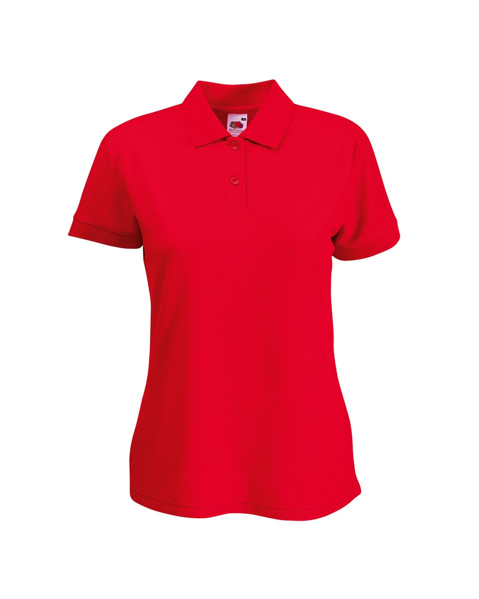 FRUIT OF THE LOOM LADY FIT PIQUE POLO SHIRT - (S-XXL) 9 COLOURS