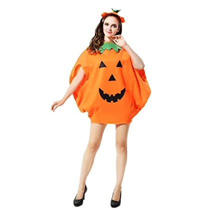 PIXNOR Bambini vestiti di Halloween Costume zucca + berretto  (arancione ) 31c7d7949fc7