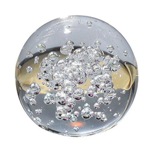 JWBOSS Artificial de 8cm Bola de Vidrio Burbuja Transparente Raro Transparente Cifras de hogar, Boda, Fiesta decoración de