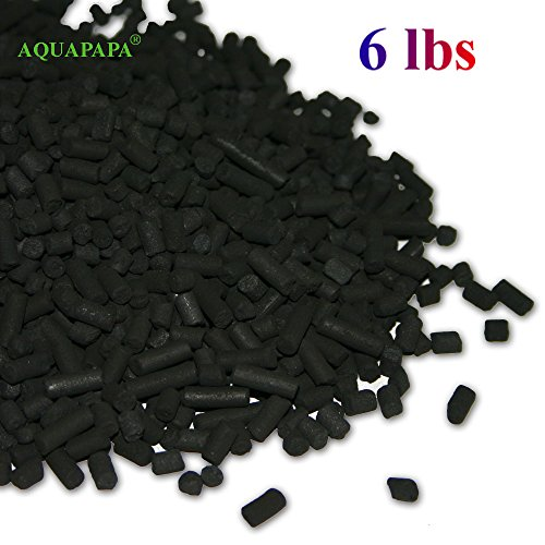 AQUAPAPA 6 lbs Bulk Activated Carbon Charcoal Pellets for Aquarium Fish Tank Koi Reef -