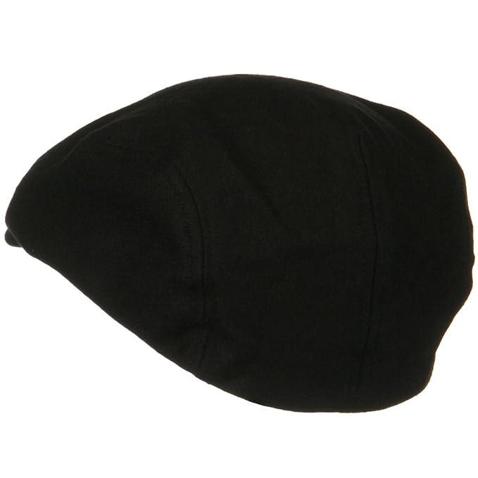 Black Wool Flat Cap Major Wear 532R97i