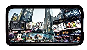 Sale customize Samsung Galaxy case New York skyscrapers taxis road advertising PC Black for Samsung S5,Samsung Galaxy S5,Samsung i9600