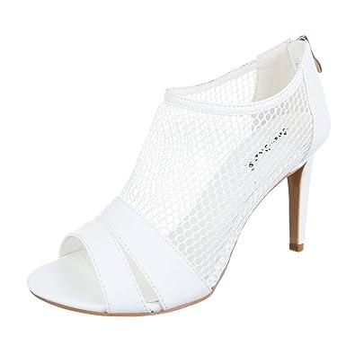 Ital Design High Heel Sandaletten Damenschuhe Pfennig /Stilettoabsatz Heels Reißverschluss Sandalen &