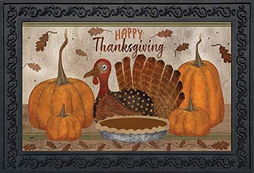 Briarwood Lane Gather Together Thanksgiving Doormat Primitive Pumpkin Indoor Outdoor 18 x30