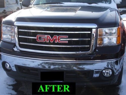 312 Motoring fits GMC SIERRA 2007-2010 CHROME GRILLE GRILL KIT 2008 07 08 09 10 2009 1500 2500 ...
