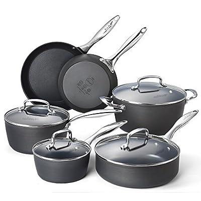 Cooksmark Hard Anodized Nonstick Cookware Set