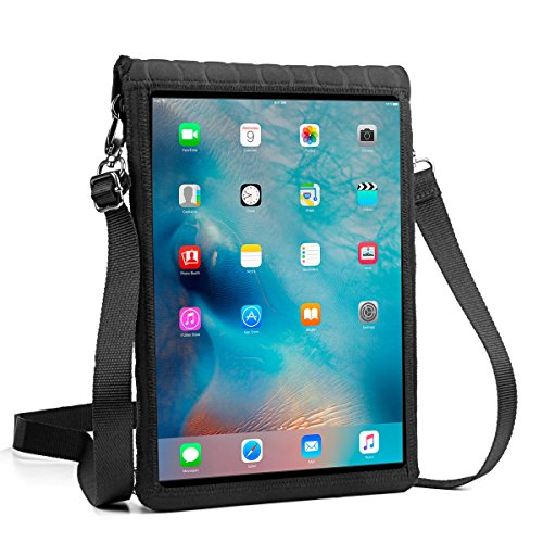 USA Gear FlexARMOR X iPad 5th Gen 9.7 Tablet Sleeve Neoprene Carrying Case Built-in Touch Capacitive Screen Protector - Fits 2017 9.7 New iPad / 9.7 iPad Pro Air 2, Other 9 to 10-Inch Tablets