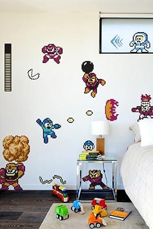 Mega Man (Megaman) Wall Decals / Stickers / Tattoos (Blik)