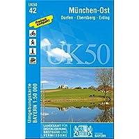 UK50-42 München-Ost, Dorfen, Ebersberg, Erding: Freising, Taufkirchen (Vils), Garching b.München, Markt Schwaben, Grafing b.München. Karte Karte Freizeitkarte Wanderkarte