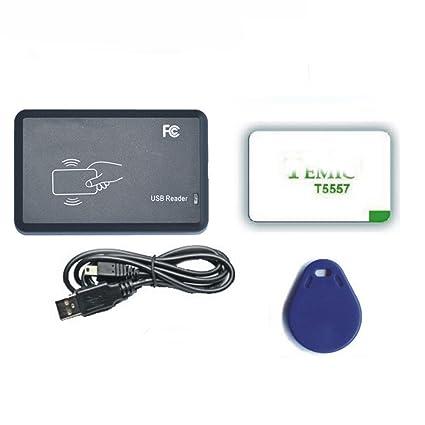 Amazon com : USB 125Khz RFID EM4305 T5557 Card Reader/Writer