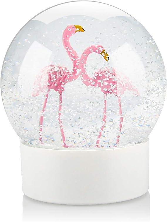 Flamingo Snowglobe