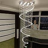 "7PM W19.7"" X H94.5"" Modern Staircase Spiral LED"