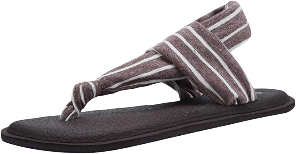CIOR Women's Yoga Slingback Flip-Flop Sling Thong Sandals Mat Flat Non-Slip Casual Meditation Shoes Casual Slipper for Travelling Beach Pool Party