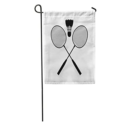 Amazon.com : Semtomn Garden Flag Racket Badminton Silhouette ...