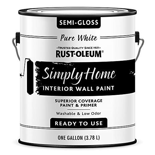 Paint Interior Latex Semi Quality - Rust-Oleum 332120-2PK Simply Home Interior Wall Paint, Gallon, Semi-Gloss Pure White
