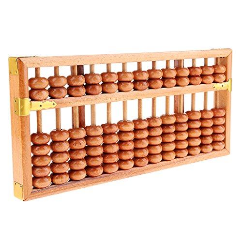 Blesiya Calculadora Antigua Ábaco de Grano de Madera de 13 Dígitos Herramienta de Conteo de Matemáticas