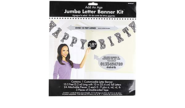 Amscan International - 121671 banner-letter large-printedbnr JMB L AAA pizarra BDY: Amazon.es: Juguetes y juegos