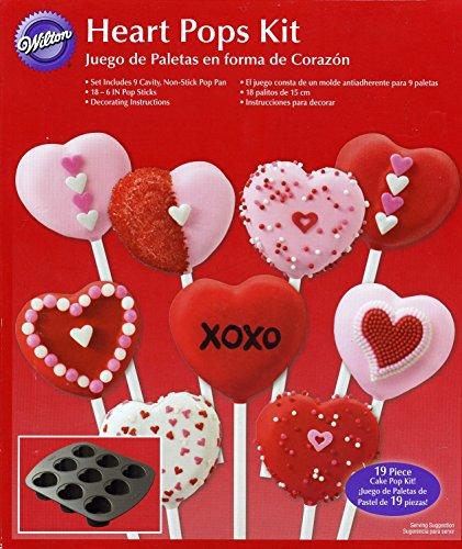 Wilton Heart Pops Kit - Pan & Sticks