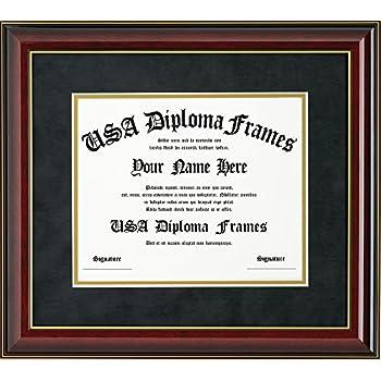 Amazon.com - CreativePF [11x14mh-b] Mahogany Diploma Frame with ...