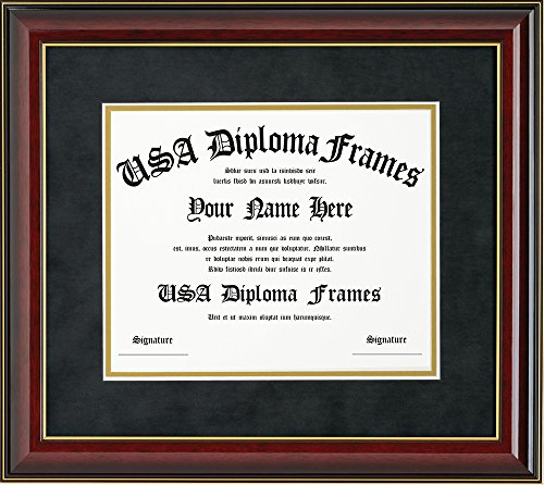 Glossy Cherry Mahogany with Gold Trim Diploma Frame (11x14 (University Cherry Wood)