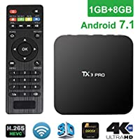 Edal TX3 PRO Android 7.1 Marshmallow Amlogic S905X VP9 HDR 4K H.265 64BIT TV BOX 1G/8G