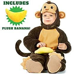 Spooktacular Creations Baby Monkey Costume Deluxe Set (6-12 Months)