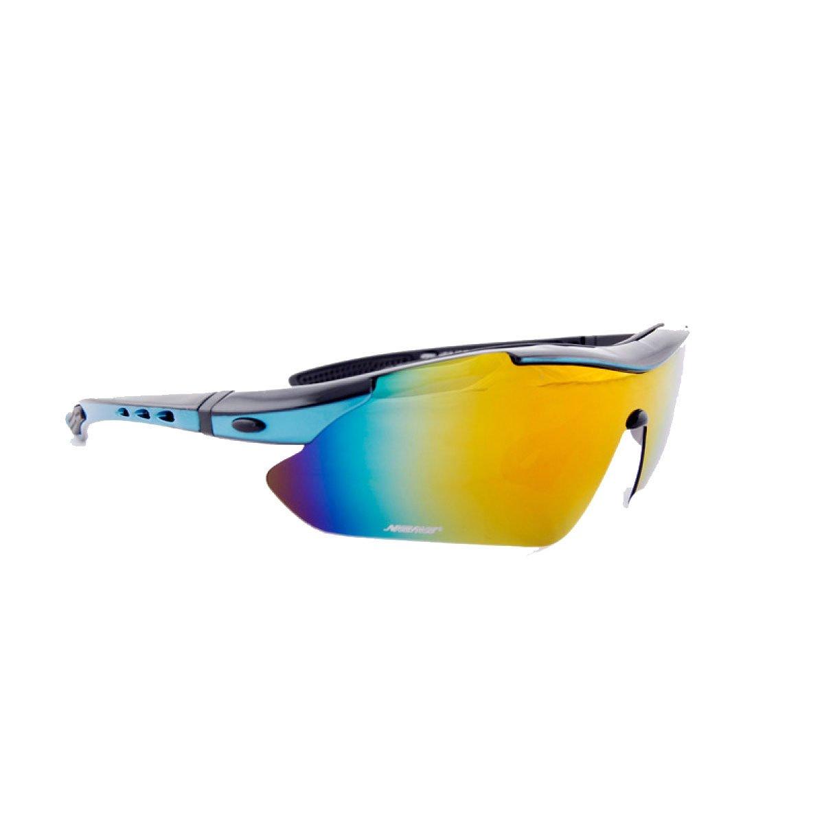 TZQ Outdoor Radfahren Polarisierte Sport Spiegel Brille Basketball Spiegel Multifunktionale Sonnenbrille,Gelb