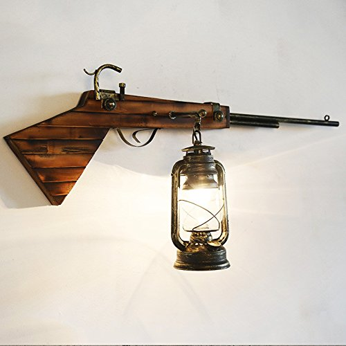 American Country Simple Creative Living Room Bedroom Bedside Wall Lamp Rifle Aisle Nordic Iron Wall Art Lights 420840Mm Outdoor Kids Living Room Bedroom Wedding Birthday Party Gift