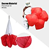 KEVENZ® Speed Training Resistance Parachute with Free Carry Bag (2 Colors to choose from Red and Black) (Red)