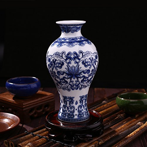 White Blue Porcelain And Antique - BigFamily Ceramic Vases Antique Traditional Blue and White Porcelain for Flowers C Pattern