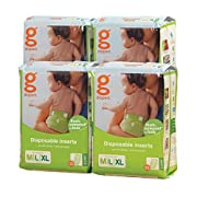 gDiapers Disposable Inserts, Medium/Large/X-Large (32 Count Bags) (Pack of 12 (32 ct each))