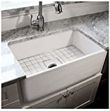 Highpoint Collection 30-inch Single Bowl Fireclay Ceramic Farmhouse Kitchen Sink