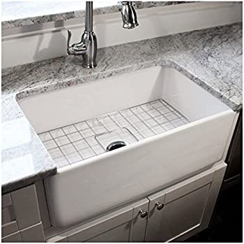 Highpoint Collection  Inch Single Bowl Fireclay Farmhouse Kitchen Sink