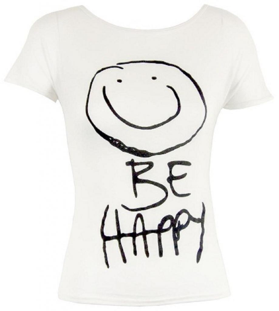 Hot Hanger Girls Tshirt Be Happy Print Top Tees
