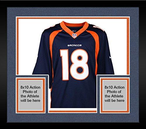 (Framed Peyton Manning Denver Broncos Autographed Navy Blue Nike Elite Jersey - Fanatics Authentic Certified)