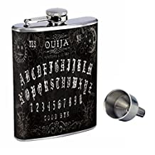 Ouija Board Perfection In Style 8oz Stainless Steel Whiskey Flask with Free Funnel D-007