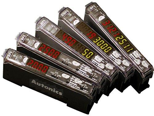 AUTONICS BF5R-D1-N Amplifier, Fiber Optic, Dual-display, Auto Tune, NPN Output, 12-24 VDC (fiber req'd).. by Autonics USA, Inc