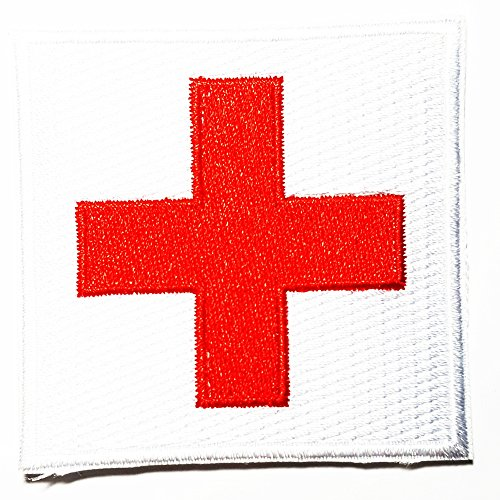 edic First Aid Nurse Doctor Emergency logo patch Jacket T-shirt Sew Iron on Patch Badge Embroidery ()