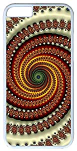 """Abstract Vortex Swirl Fractal Case for iPhone 6(4.7"""") PC Material White"""