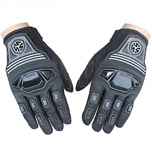 UXOXAS Winter Warm Windproof Protective Full Finger Racing Bike Sports Motocross Glove Motorcle Gloves, l-black&blue, l-black&blue